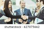 handshake financial partners ... | Shutterstock . vector #627075662