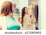 shopping  clothes  fashion ... | Shutterstock . vector #627085892