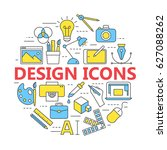 graphic design icons   symbols. ... | Shutterstock . vector #627088262