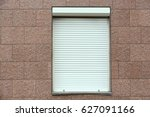 plastic window with roller... | Shutterstock . vector #627091166