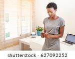 portrait of beautiful african...   Shutterstock . vector #627092252