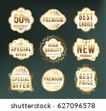 set of high quality luxury...   Shutterstock .eps vector #627096578