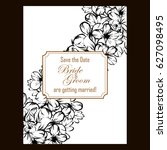 vintage delicate invitation... | Shutterstock . vector #627098495