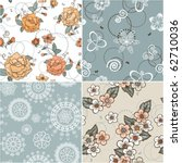 set of seamless patterns | Shutterstock .eps vector #62710036