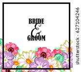 romantic invitation. wedding ... | Shutterstock . vector #627104246