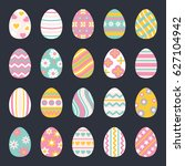 easter eggs for easter holidays ... | Shutterstock . vector #627104942