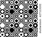 decorative abstract pattern of... | Shutterstock .eps vector #627113102