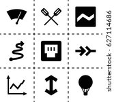 up icon. set of 9 up filled... | Shutterstock .eps vector #627114686