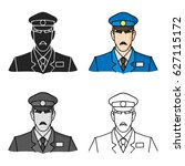 museum security guard icon in... | Shutterstock .eps vector #627115172