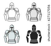 plate armor icon in cartoon...   Shutterstock .eps vector #627117056