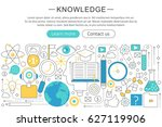 elegant thin line flat modern... | Shutterstock . vector #627119906