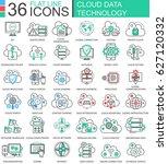 cloud data technology ultra... | Shutterstock . vector #627120332