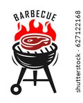 vector steak bbq and grill fire ... | Shutterstock .eps vector #627122168
