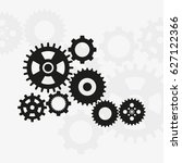 set of machine gears vector icon | Shutterstock .eps vector #627122366