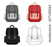 hipster backpack icon in... | Shutterstock .eps vector #627130262