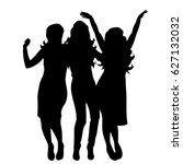 vector silhouette of friends on ... | Shutterstock .eps vector #627132032