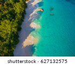 aerial  anse lazio  praslin... | Shutterstock . vector #627132575