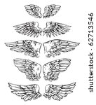 ten ink sketches united in 5... | Shutterstock .eps vector #62713546