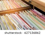 financial documents stored in
