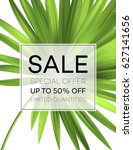 sale banner or poster with palm ... | Shutterstock .eps vector #627141656