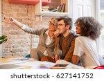 three young people doing selfie ... | Shutterstock . vector #627141752