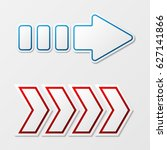 set of two arrows different... | Shutterstock .eps vector #627141866