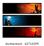 set of halloween banners   Shutterstock .eps vector #62714299
