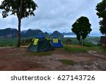 tourism's tents at phang nga... | Shutterstock . vector #627143726