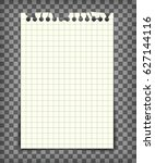 blank checkered note book page... | Shutterstock .eps vector #627144116