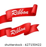 red ribbon banner | Shutterstock .eps vector #627150422