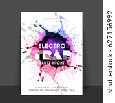 electro trap music party... | Shutterstock .eps vector #627156992