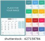 Spanish Planning Calendar 2018...