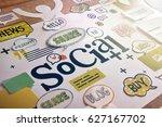social media and social network ...   Shutterstock . vector #627167702