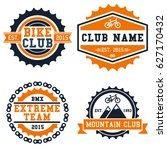 bike club logo badge set... | Shutterstock .eps vector #627170432