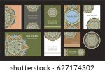 mandala vintage greeting... | Shutterstock .eps vector #627174302