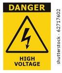 Danger High Voltage Sign ...