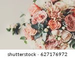 wedding flowers  bridal bouquet ... | Shutterstock . vector #627176972