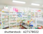pharmacy interior with blurred... | Shutterstock . vector #627178022