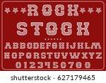 font alphabet  label vector... | Shutterstock .eps vector #627179465