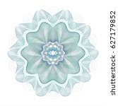 guilloche element for... | Shutterstock .eps vector #627179852