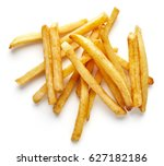 heap of french fries isolated... | Shutterstock . vector #627182186
