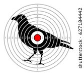 target shooting bird in a dash | Shutterstock .eps vector #627184442