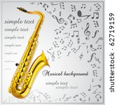 saxophone. musical background | Shutterstock .eps vector #62719159
