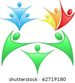 colored silhouettes of people... | Shutterstock .eps vector #62719180
