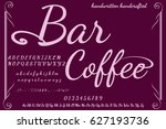 bar coffee   font handcrafted... | Shutterstock .eps vector #627193736