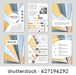 abstract vector layout... | Shutterstock .eps vector #627196292