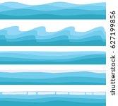sea landscape  icon of blue... | Shutterstock .eps vector #627199856