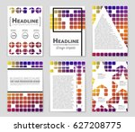 abstract vector layout... | Shutterstock .eps vector #627208775