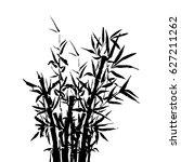 black inked bamboo tree... | Shutterstock .eps vector #627211262