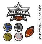 all star game  logo  emblem for ... | Shutterstock .eps vector #627215345